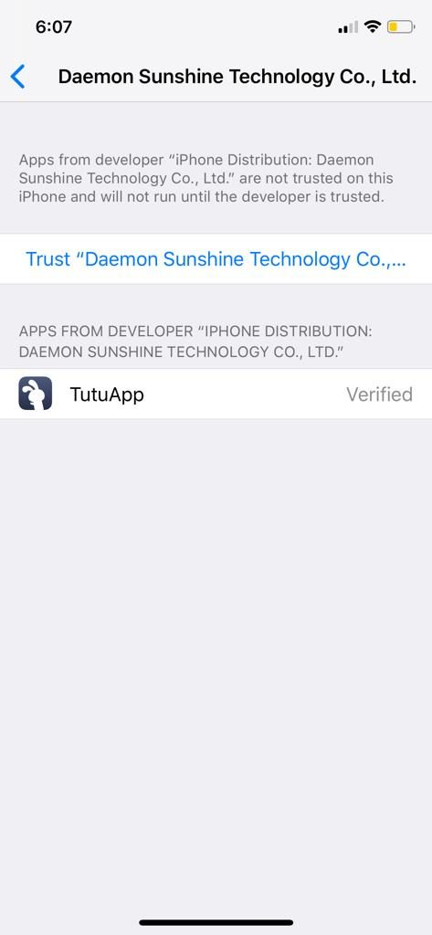 Trust to fix the TuTuApp Error