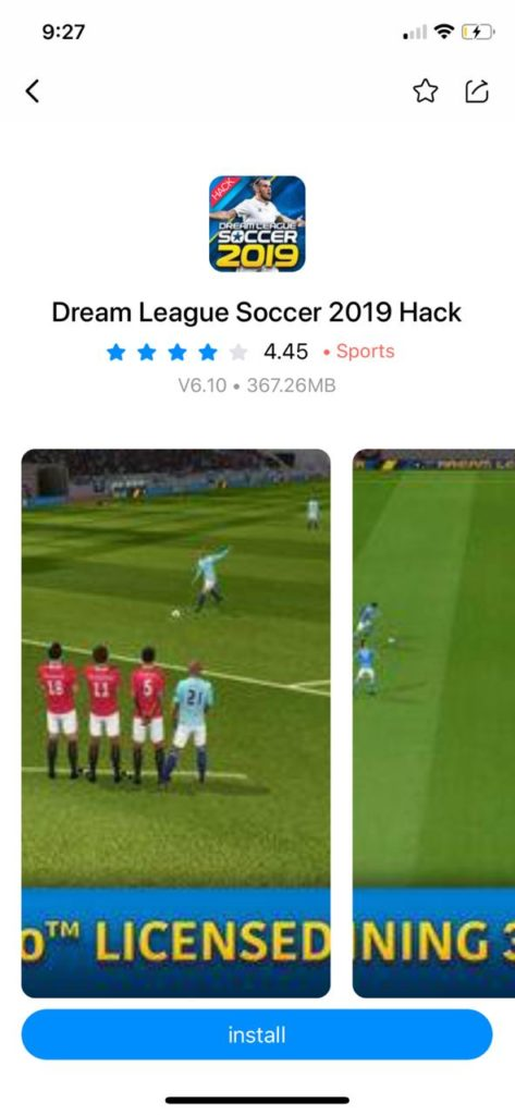 Dream League Soccer 2019 Hack on iOS(iPhone/iPad) with TuTuApp