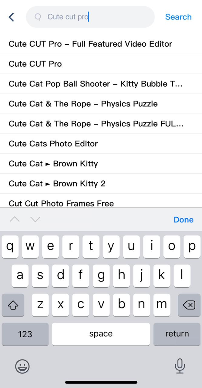 search cute cut pro