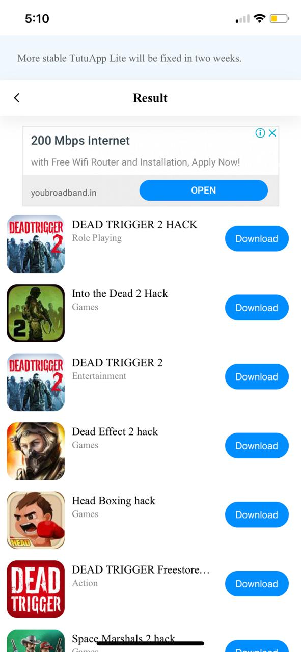Download Dead Trigger 2 Hack on iOS using TuTuApp