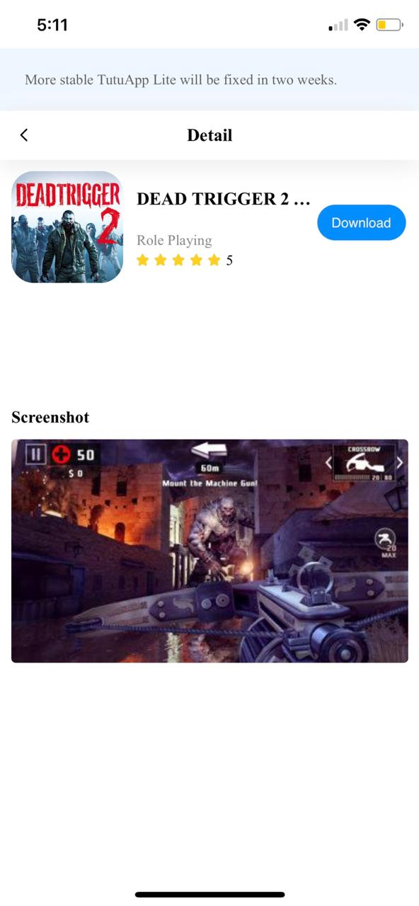 Download Dead Trigger 2 Hack on iOS