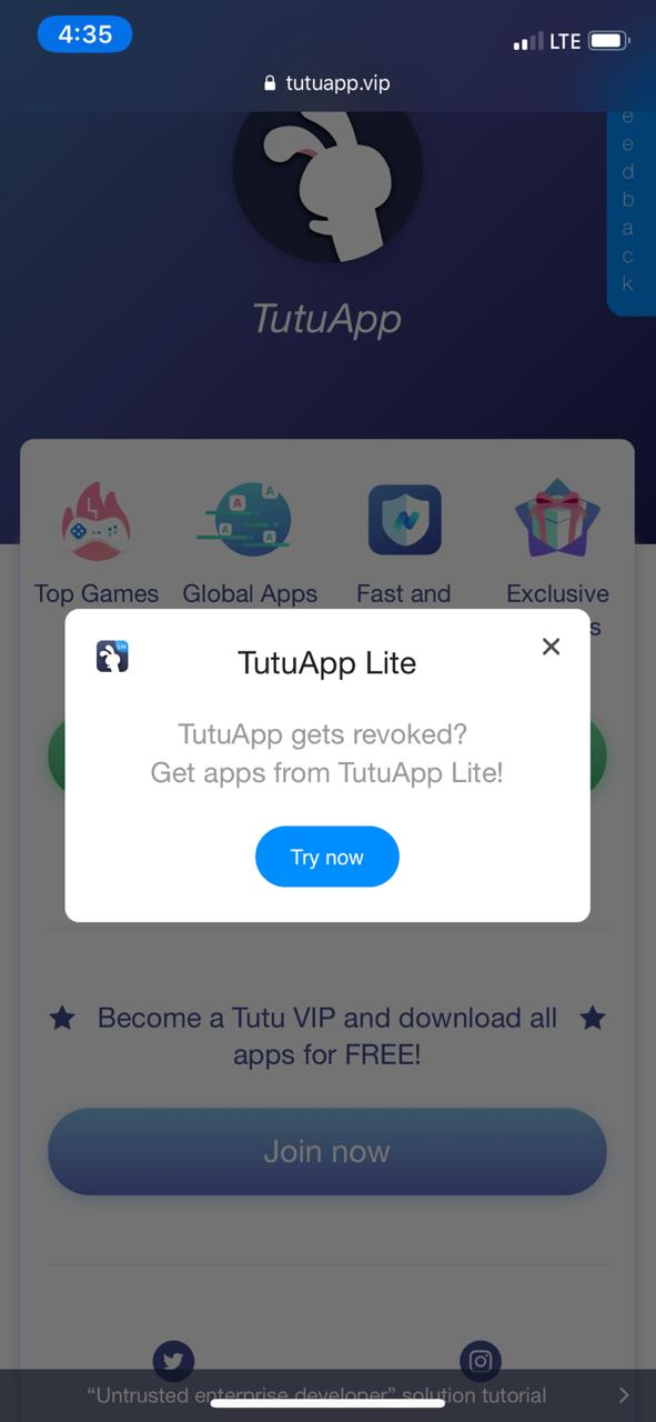 TuTuApp Lite | Download TuTuApp Lite on iOS(iPhone/iPad