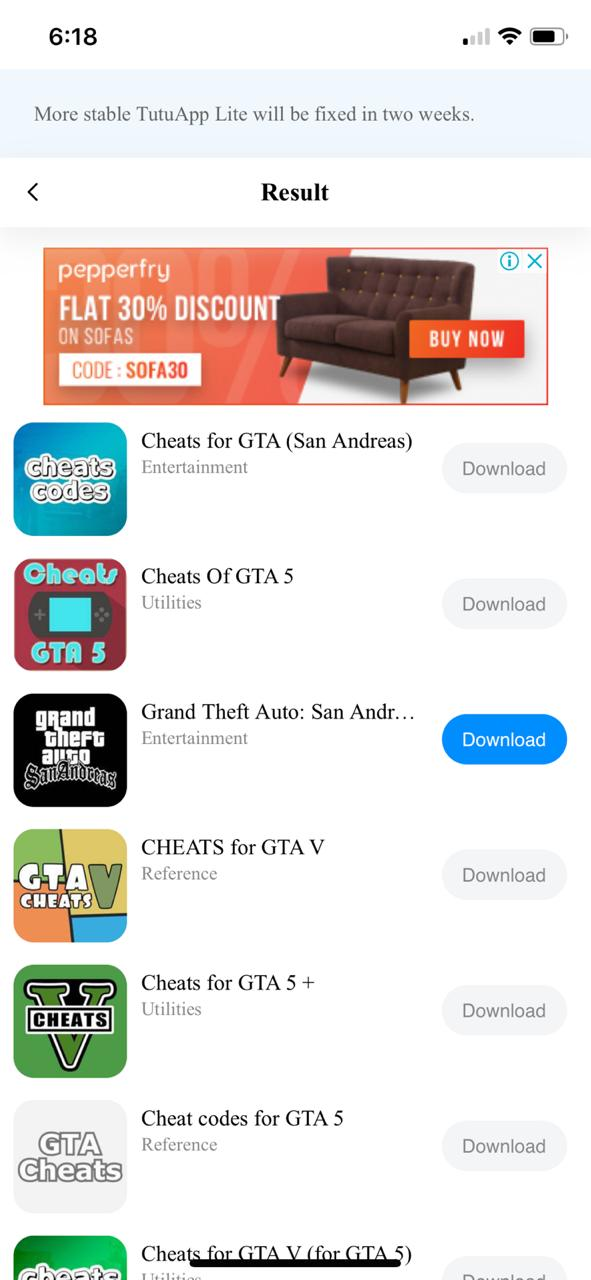 Install GTA San Andreas Using TutuApp