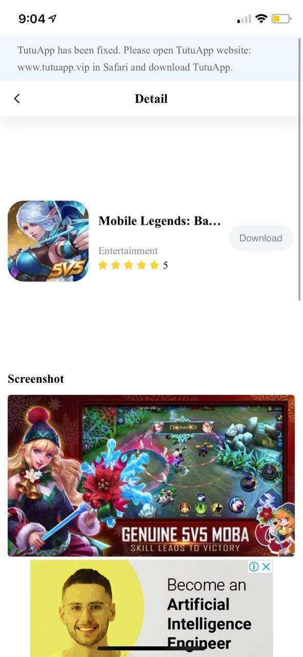 TuTuApp Mobile Legends Hack Download on iOS(iPhone/iPad) No Jailbreak