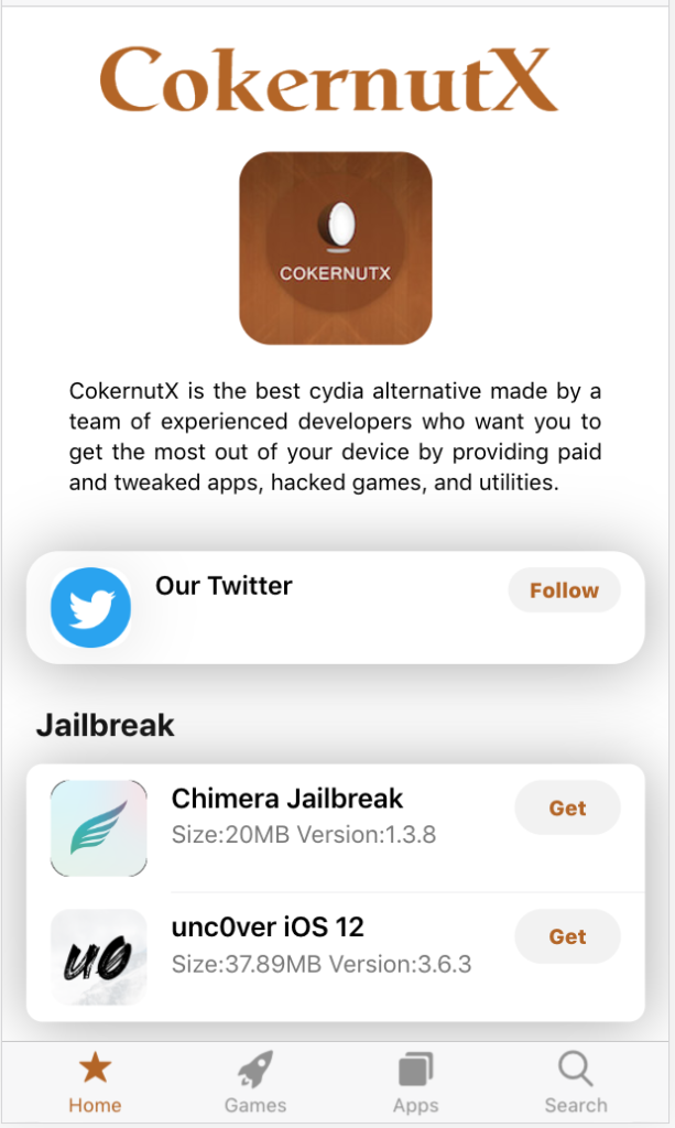 cokernutX install iOS