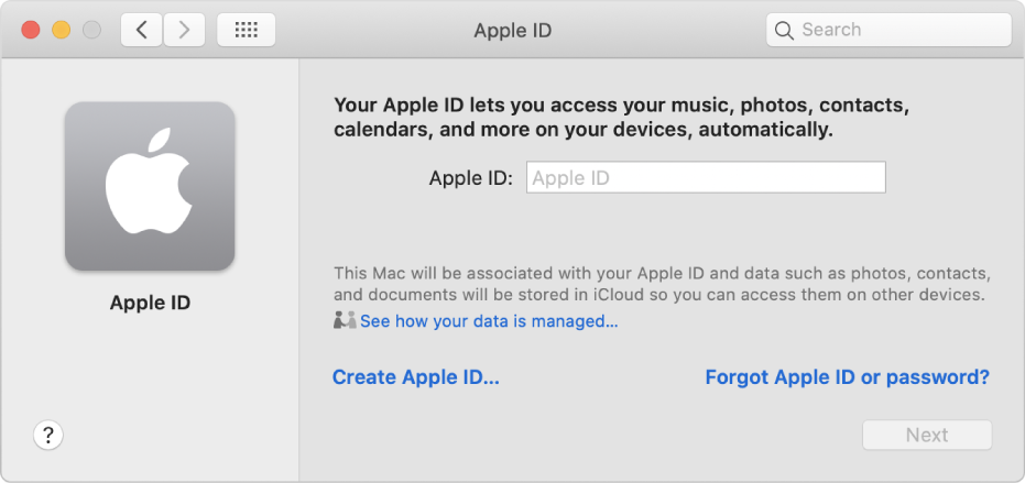enter apple id and pass