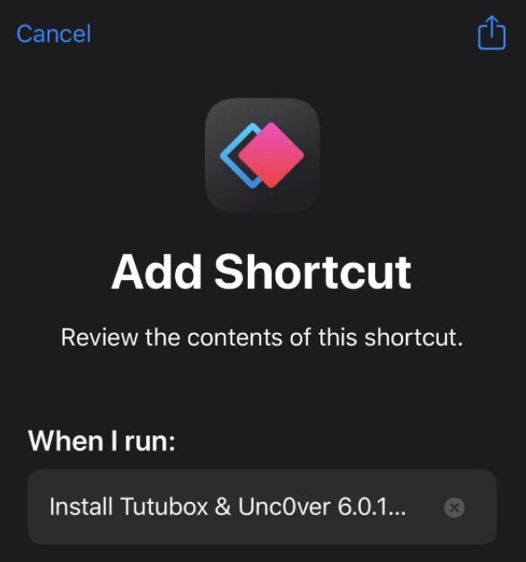 Add TuTuBox Shortcut