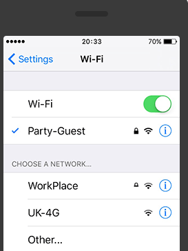 Connect the Rescue Server - Wi-Fi