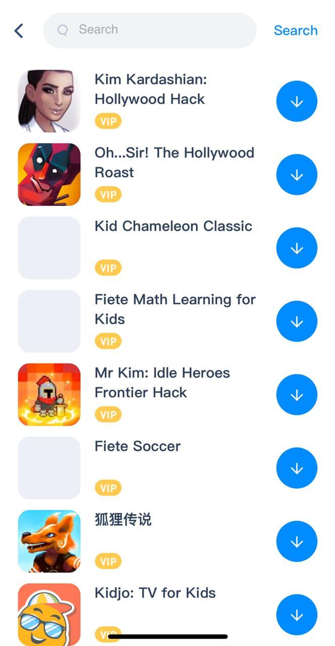 Search 'Kim Kardashian Hack Game' on iOS