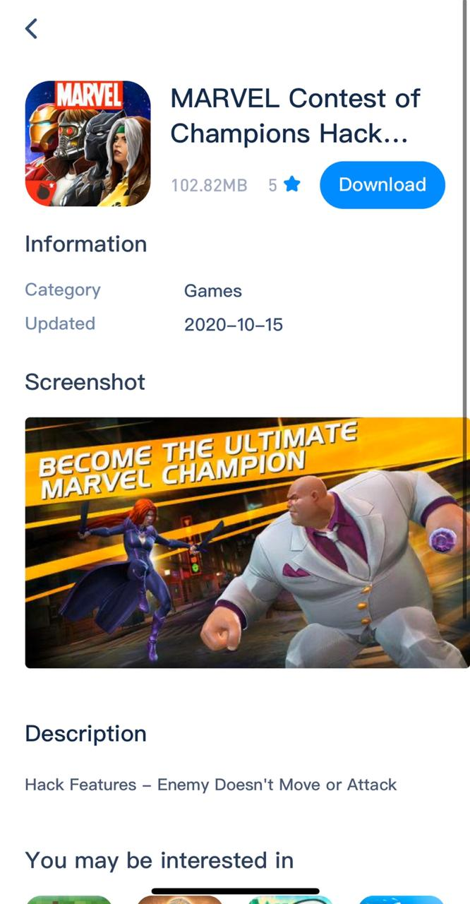 Marvel Contest of Champions Hack install