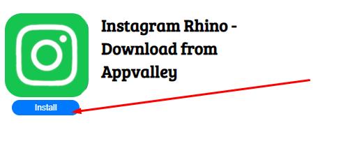 Install Instagram Rhino App