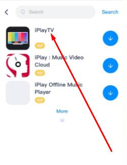 Select 'iPlayTV App'