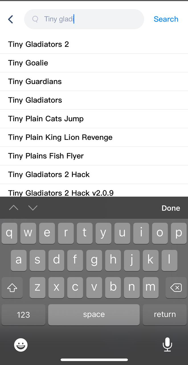 Select Tiny Gladiators Hack Install on iPhone and iPad