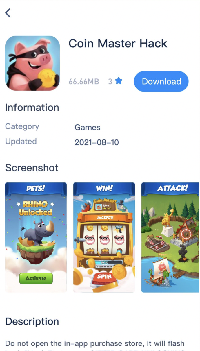Download Coin Master Hack Mod Game on iPhone and iPad